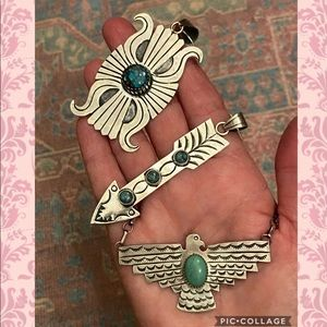 Native American Sterling Thunderbird Necklace